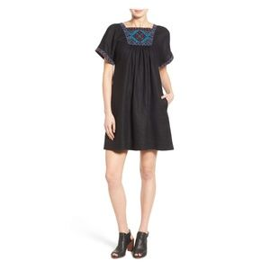 NWT Madewell 'Wander' embroidered linen dress